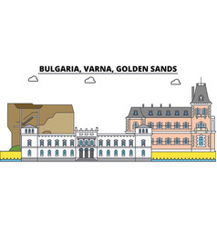 bulgaria varna golden sands city skyline vector image