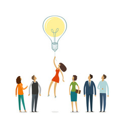 Business education concept idea innovation vector