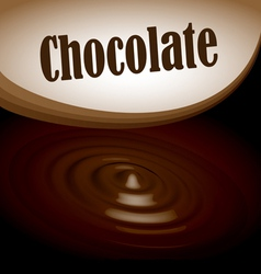 Chocolate splash text frame vector