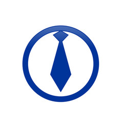 circular business employee tie blue icon symbol vector image