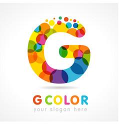 Colored g logo vector