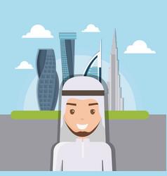 dubai city modern building cityscape skyline with vector image