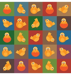 easter chick pattern vector image