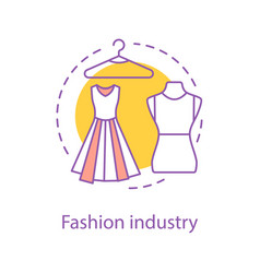 Fashion industry concept icon vector
