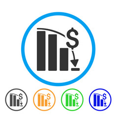financial crisis rounded icon vector image