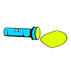 flashlight icon cartoon vector image