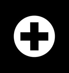 Flat medical cross icon vector