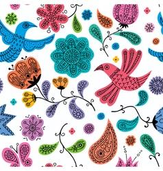 Floral Doodles Pattern vector