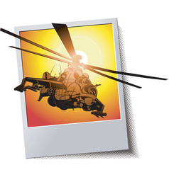 frame with helicopter vector image