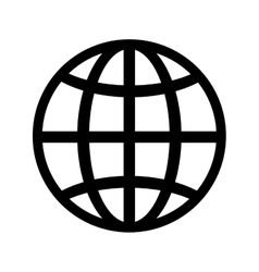 Globe connection global vector