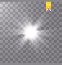 glow isolated white transparent light effect set vector image