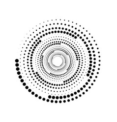 halftone dots in circle form round logo isolated vector image
