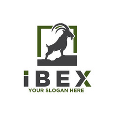 ibex and deer care solutions logo designs vector image