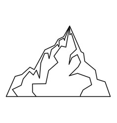 Iceberg icon outline style vector