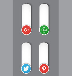 icons social network over white background vector image