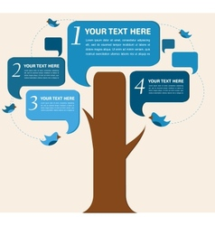 Infographic design speech bubble tree with birds vector