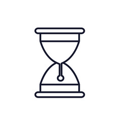 isolated sand hourglass icon line design vector image