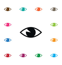 Isolated vision icon see element can be vector
