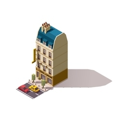 Isometric Paris building vector