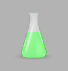 Laboratory glass test tube vector