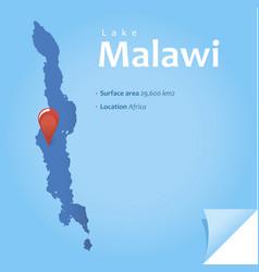 lake malawi vector image
