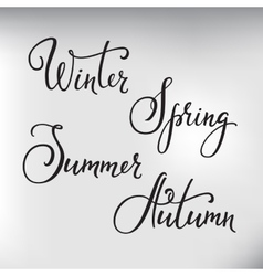 Lettering seasons set vector image