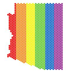 lgbt spectrum dot arizona state map vector image