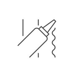 liquid sealant line outline icon vector image