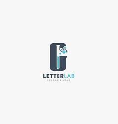 logo letter lab dual meaning style vector image