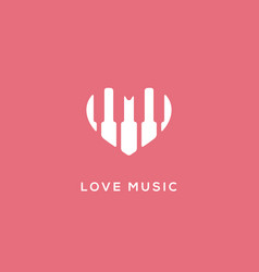 love music logo vector image
