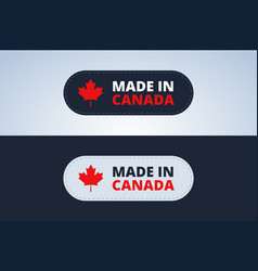 made in canada badge vector image