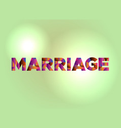 marriage concept colorful word art vector image
