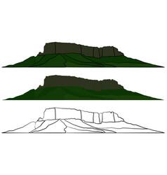 Mount roraima symbol in brazil vector