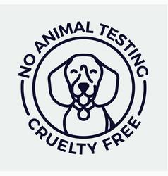 No animal testing and cruelty free monoweight vector