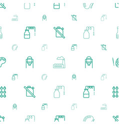 Oil icons pattern seamless white background vector
