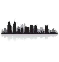 Philadelphia USA city skyline silhouette vector