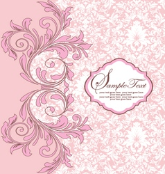 Pink damask background vector