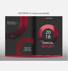 Red abstract circle annual report brochure design vector