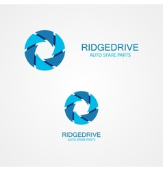 set colorful serrations logo vector image