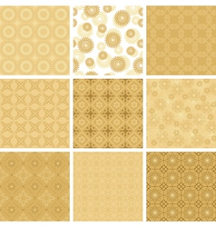 set of beige geometric pattern for decorations vector image
