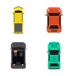 set of top views of cars vector image