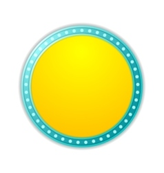 Shining yellow circle retro light banner vector