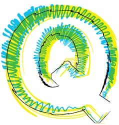 Sketch font Letter R vector image