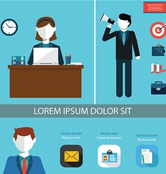 Teamwork infographic set with business avatars and vector