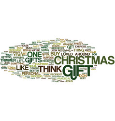 The perfect christmas gift text background word vector