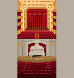 Theater stage with curtains entertainment vector