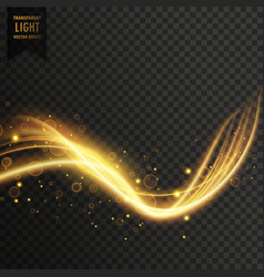 transparent golden light effect vector image