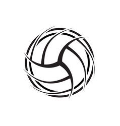 Volleyball outline abstract symbol background vector