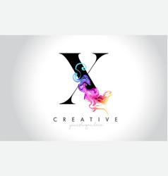 X vibrant creative leter logo design vector