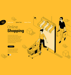 yellow and black ink draw flat design isometric vector image